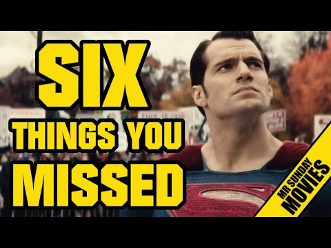 BATMAN V SUPERMAN: DAWN OF JUSTICE  - Easter Eggs, References & Things You Missed