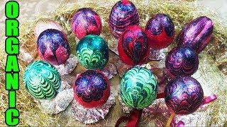Новейший Способ Как Покрасить Посхальные Яйца Лаком в Фольге! Часть 3!