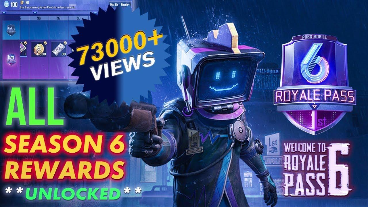 Pubg Mobile Elite Royale Pass Season 6 Rp 100 All Rewards Full Hd 1080p 60fps