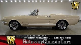Gateway Classic Cars St. Louis Showroom Stock # 6498 1966 Ford Mustang GT Convertible