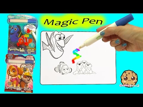 Disney Pixar Finding Dory + Paw Patrol Imagine Ink Rainbow Color Change Pen  Surprise Pictures Book