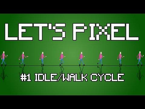 13eef18e36 Let's Pixel : How To Create A 2D Pixel Art Walk & Idle Animation Using Pyxel