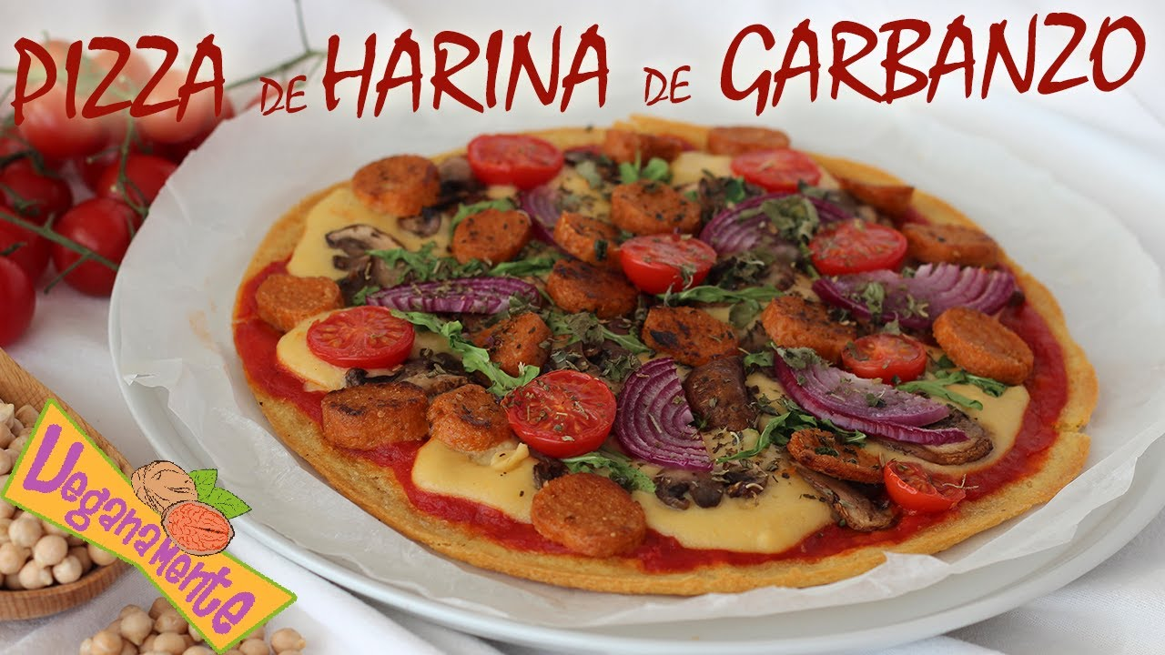 Pizza De Harina De Garbanzo Vegana Y Sin Gluten Veganamente Youtube