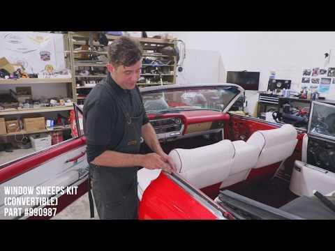 How To Install Window Sweeps on a 1964 Cadillac Eldorado