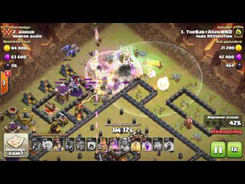 "CLASH OF CLANS ""INDO REVOLUTION VS ANGKOR AUDIO"" 3STAR TH11 ATTACK"