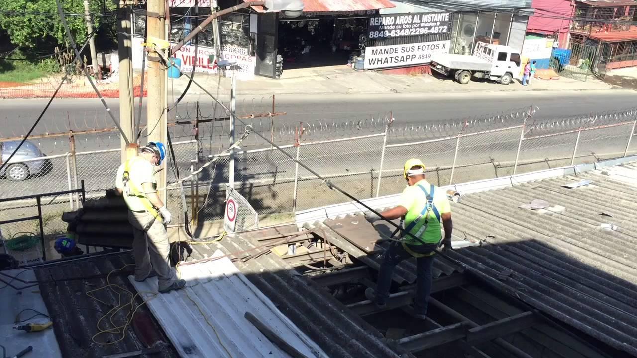 Techos de asbesto desmontaje de lamina de asbesto youtube - Laminas de techo ...