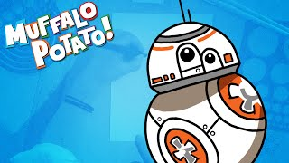How to Draw BB8 Using Letters and Numbers with Muffalo Potato