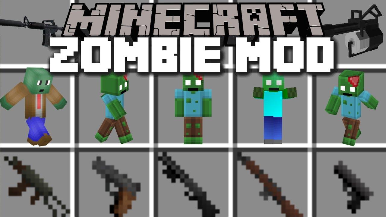 Minecraft WORLD WAR ZOMBIE APOCALYPSE MOD / FIGHT AGAINST FLESH ZOMBIES!!  Minecraft