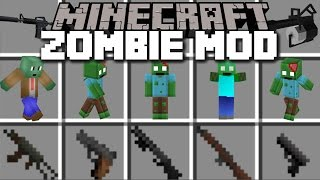 Minecraft WORLD WAR ZOMBIE APOCALYPSE MOD / FIGHT AGAINST FLESH ZOMBIES!! Minecraft