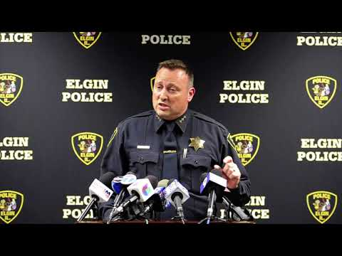 Elgin Police Department press conference on fatal shooting video