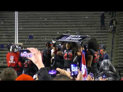 2013 Mountain West Conference football Championship trophy presentation Fresno State