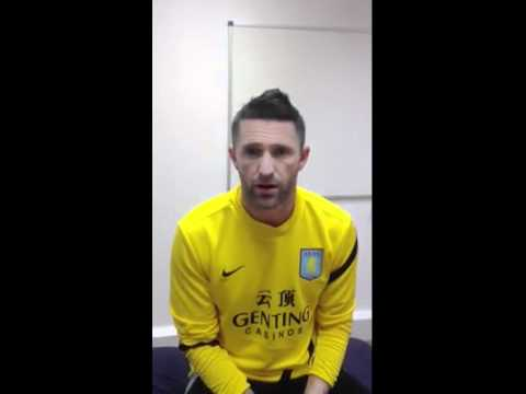 Good Luck Message from Robbie Keane