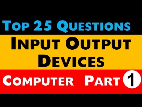 Top 25 questions of Input Output Devices Computer Awareness Part-1