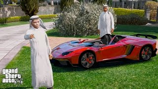 GTA 5 REAL LIFE PRINCE OF DUBAI MOD#3-BUYING A LAMBORGHINI AVENTADOR J FOR MY SON