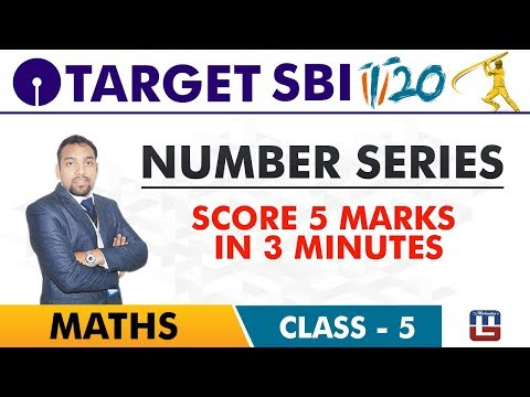 SBI Clerk Prelims 2018 | Number Series | Maths Live At 10 am | Class-5