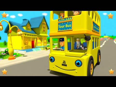 Yellow Wheels on the Bus | Kindergarten Kids Songs | Nursery Rhymes Collection by Little Treehouse