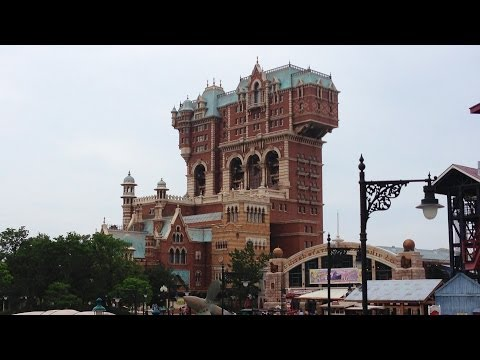 Tower of Terror POV Drop Ride Tokyo DisneySea Japan Disney Resort Shiriki Utundu 1080p HD