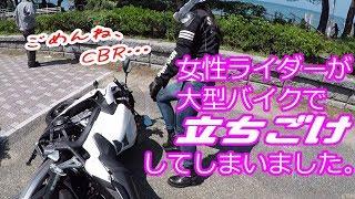 【#10】女性ライダーが大型バイクで立ちゴケしました【ZRX1200DAEG&CBR650F】
