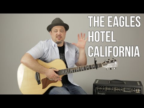 """How To Play """"Hotel California"""" (EASY) by The Eagles on Guitar - Easy Acoustic Songs for Guitar"""