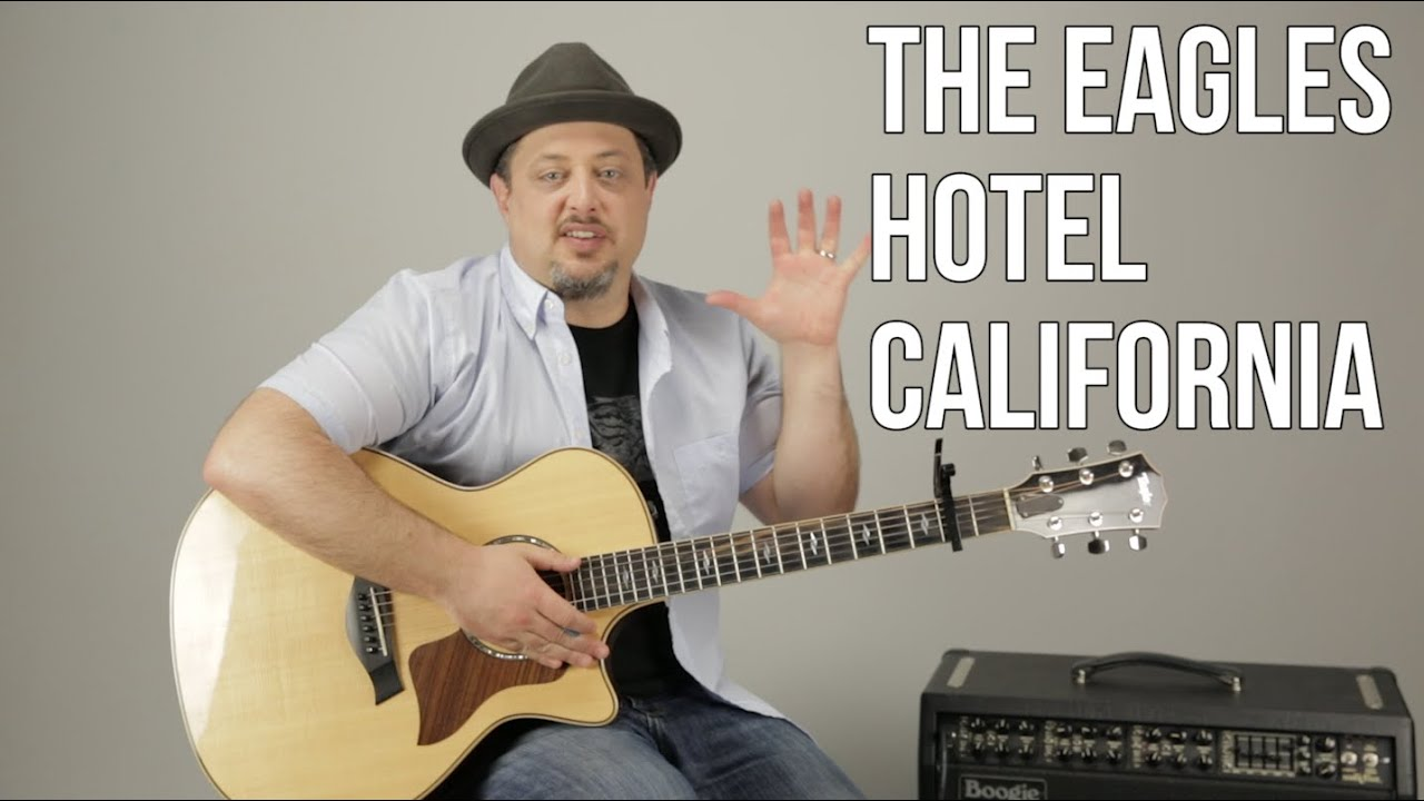 Hotel California The Eagles Easy Acoustic Guitar Lesson Tutorial Youtube