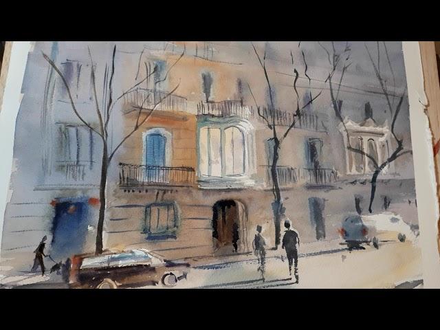 Una galeria modernista de l'Eixample [1 pintura en 1 minut]