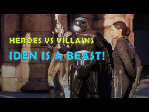 IDEN IS A BEAST | Heroes vs Villains | Star Wars Battlefront 2 (2 Matches)