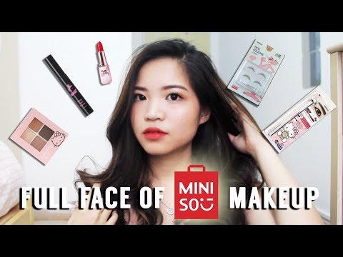Haul Review Full Face Of Miniso Makeup English
