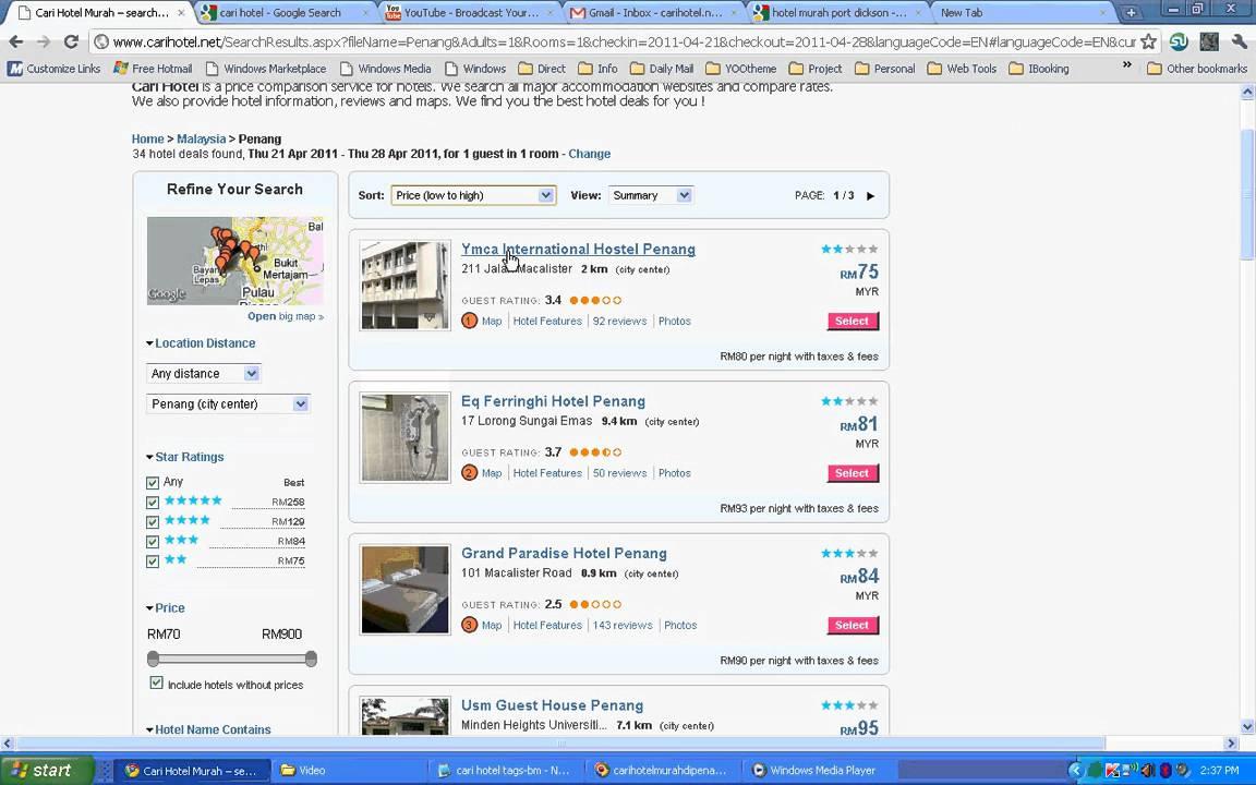 Cari Hotel Murah Di Penang