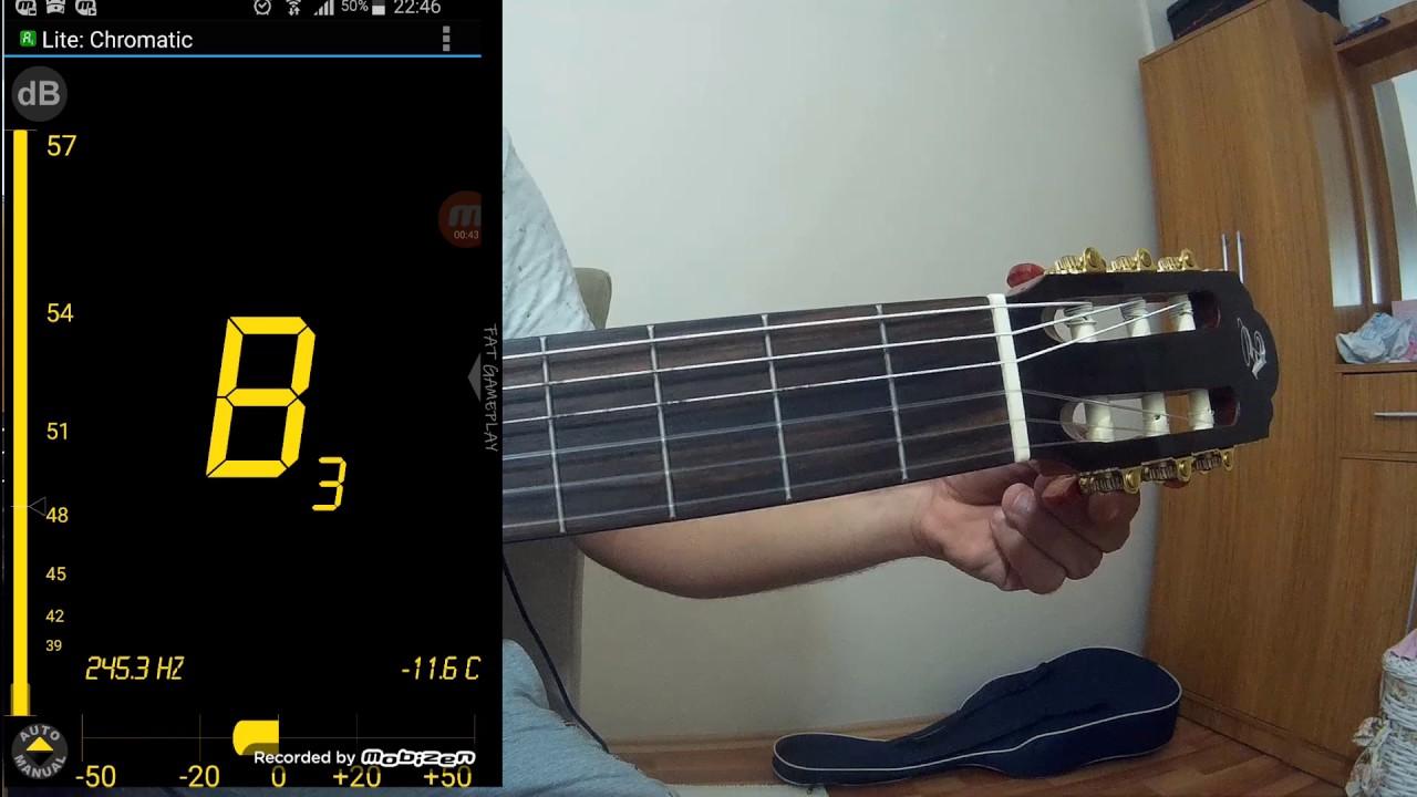 GİTAR AKORT YAPMA! Telefonla Gitar Akort Etme (Akort Nasıl Yapılır?) Guitar Tuna