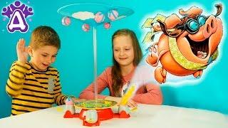 Летающие свинки игры для детей распаковка. When Pigs Fly Game Games for children Видео для детей