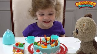 Let's make a Birthday Cake for Genevieve's best friend, Root Beer!
