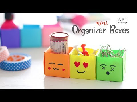 DIY Mini Organizer Boxes | Desk Decor | Craft Ideas