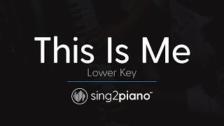 Download This Is Me (LOWER Piano) originally by Keala Settle & The Greatest Showman Ensemble Mp3 and Videos