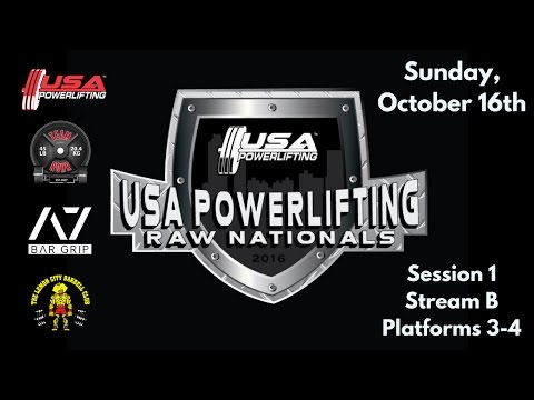 FEED MOVED - Sunday 1B - 2016 USA Powerlifting Raw Nationals