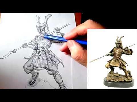 Как нарисовать самурая поэтапно