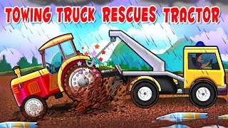 Monster Towing Truck Videos For Kids | Towing Truck rescues Tractor | Real City Heroes