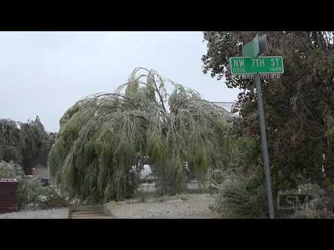 10-26-2020 Yukon-Oklahoma City, OK -  October  Ice Storm: Car Crashes, Tree Damage, Slick Bridges
