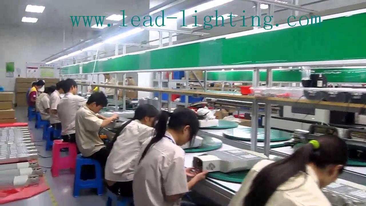 The Lisida Production Work Of Led Lighting Factory