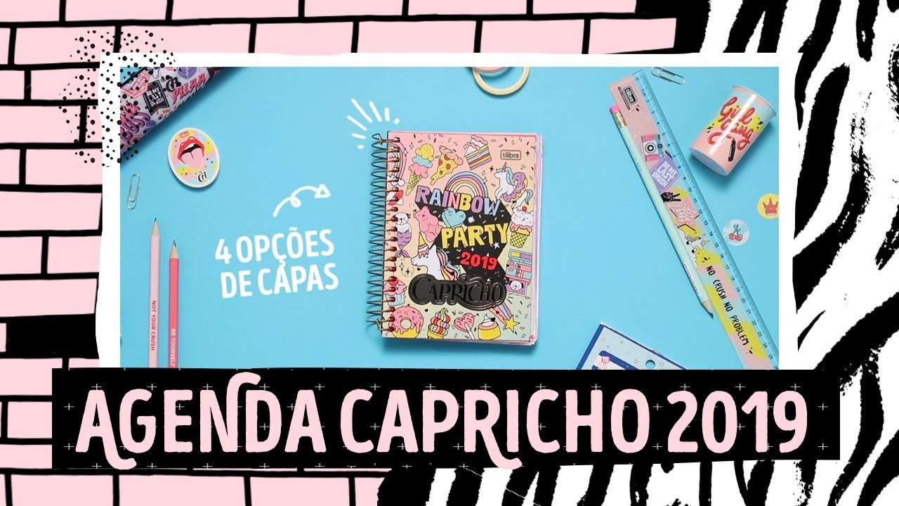Agenda Capricho 2019 Manual Dos Sonhos Youtube