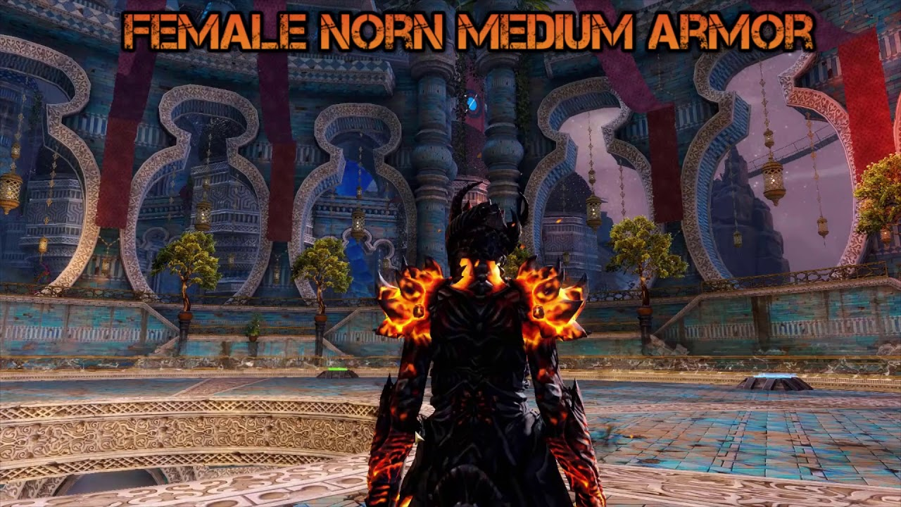 Guild wars 2 Hellfire armor set (all races male and female)