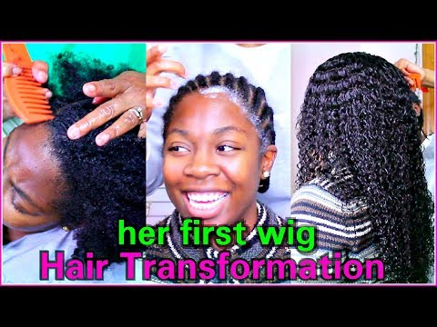 HAIR TRANSFORMATION On My Sister | HER FIRST WIG | RPGHair!