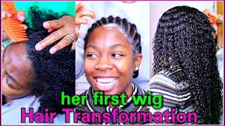 Download HAIR TRANSFORMATION On My Sister | HER FIRST WIG | RPGHair! Mp3 and Videos