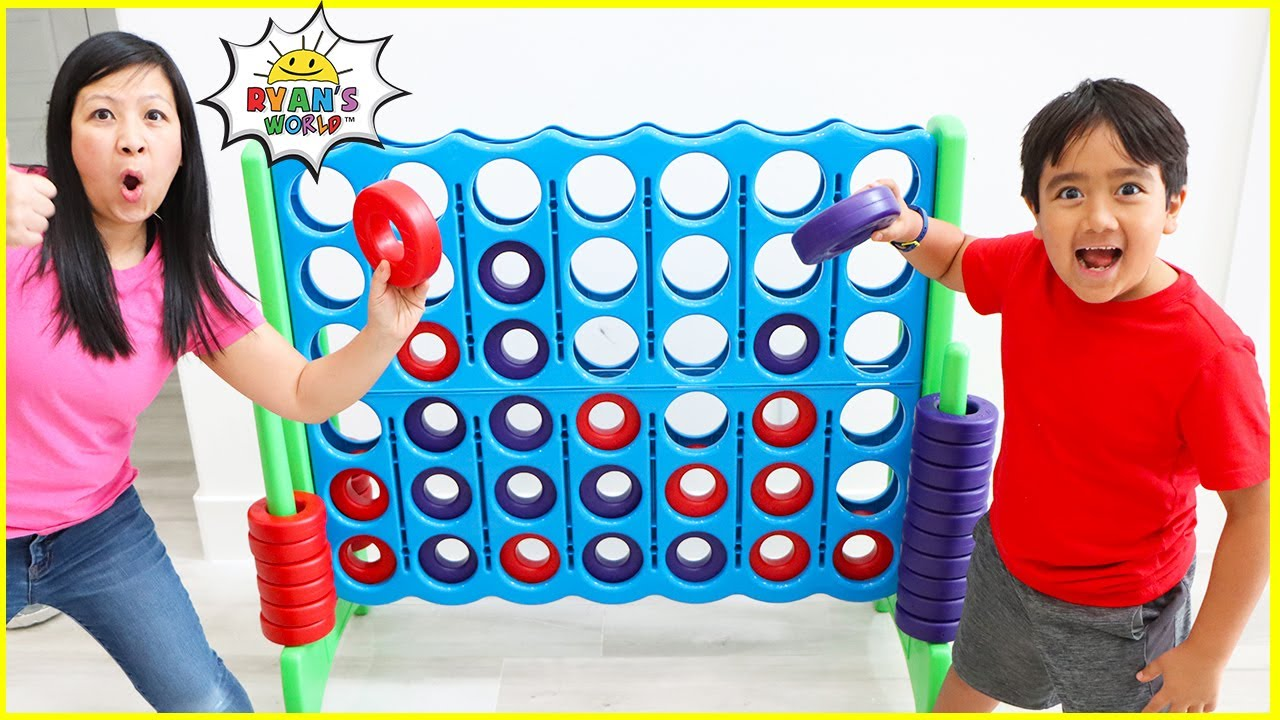 Giant Board Game challenge!!! Winner gets surprise with 1 hr kids games!!!