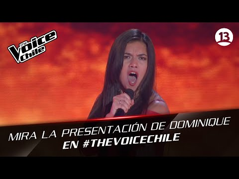 The Voice Chile | Dominique Leiva - Cierro mis ojos