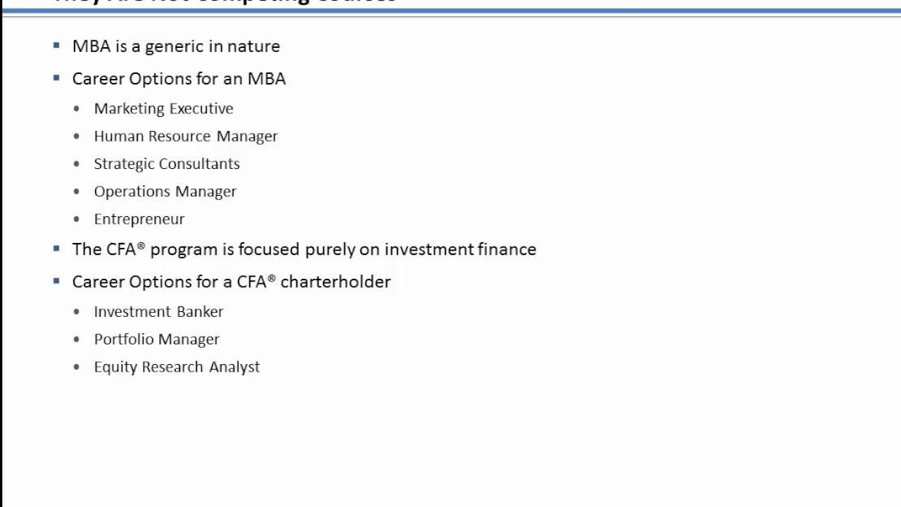 cfa vs mba finance which one is better for you full guide cfa vs mba finance which one is better for you full guide analysis