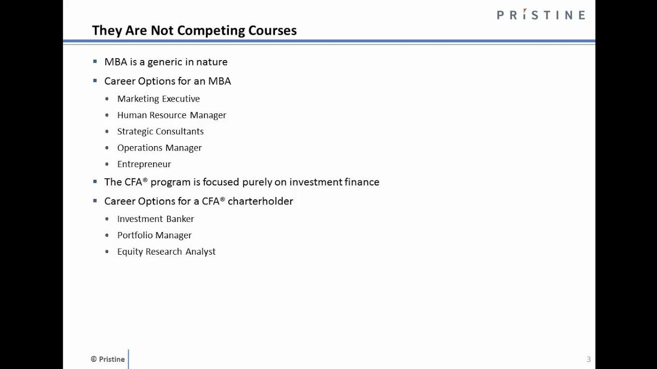 CFA vs MBA Finance: Which one is better for you? Full Guide