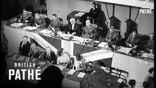 Manstein War Crimes Trial Begins (1949)
