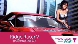 Ridge Racer V Hard Mode All GPs by Qaotik   Themeathon 80s
