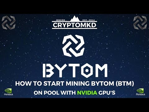 How To Start Mining Bytom (BTM) On Pool With NVIDIA GPU's