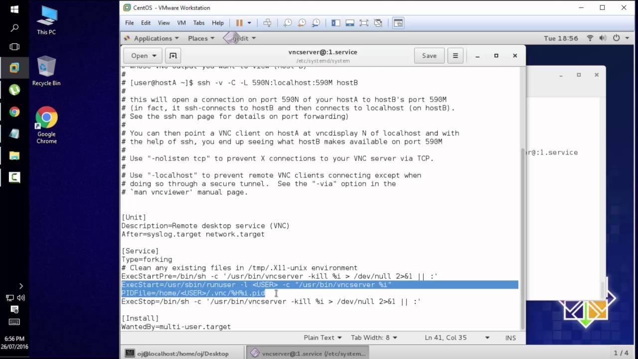 Configure VNC Server in CentOS 7